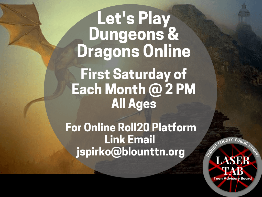 Dungeons Dragons First Sat of Month 2020 (Signage)