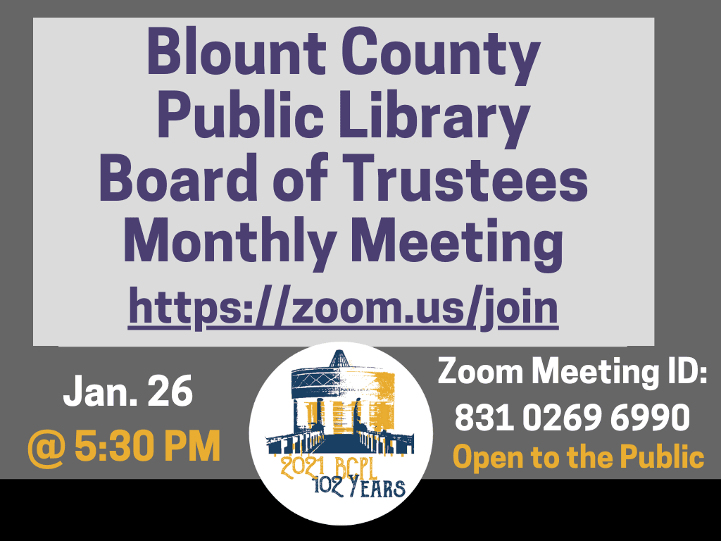 BCPL Board Meeting Jan 19 2021 (Signage)