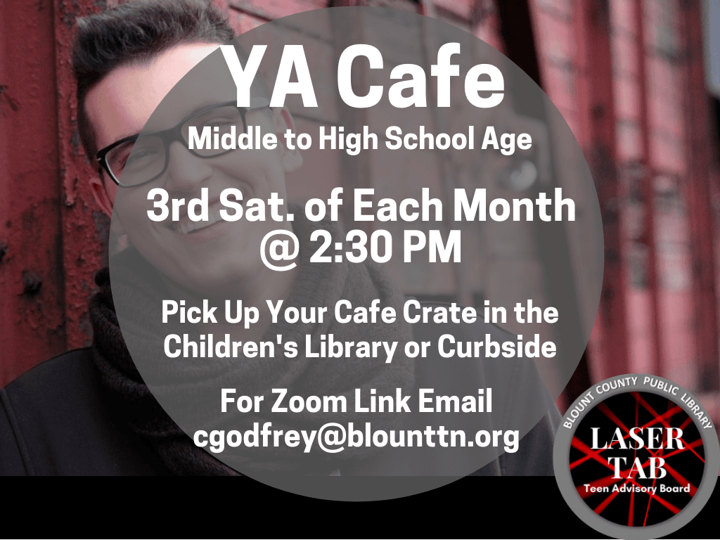 YA Cafe 3rd Sat of Each Month (Signage)