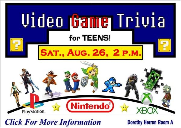 Video Game Trivia August 26 2017 (Feature)