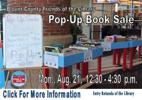 FOL Pop-Up Book Sale - August 21 2017 (Feature)