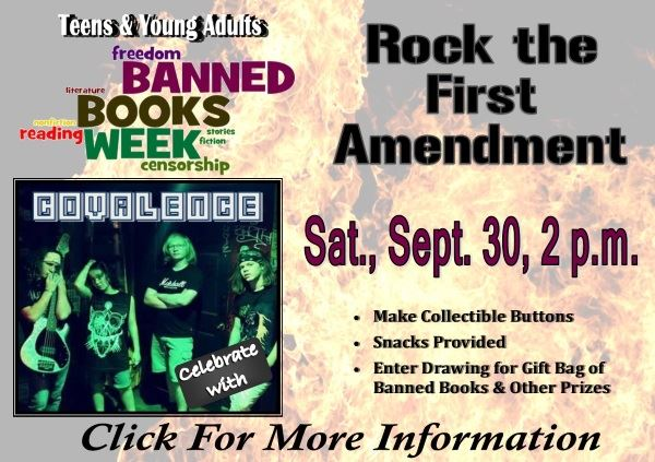 Banned Books Week Rock the First Amendment - Sat. Sept. 30, 2017 (Feature)