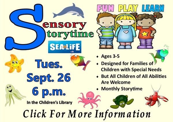 Sensory Storytime September 26 2017 (Feature)