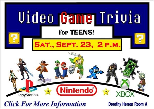 Video Game Trivia September 23 2017 (Feature)