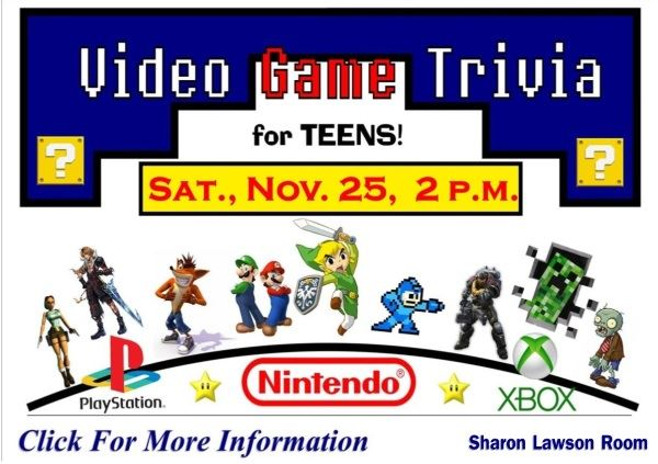 Video Game Trivia November 25 2017 (Feature)