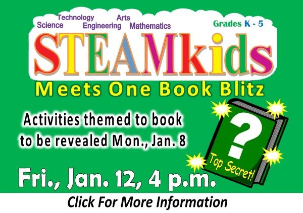 STEAMkids One Book Blitz Jan 12 2018 (Feature)