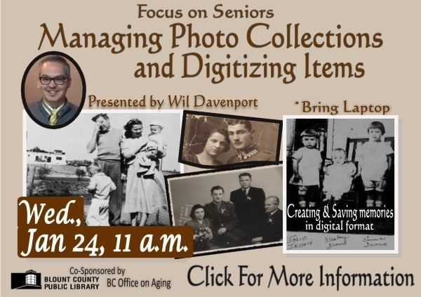 Managing Photo Collections and Digitizing Items - January 24 2018 (Feature)