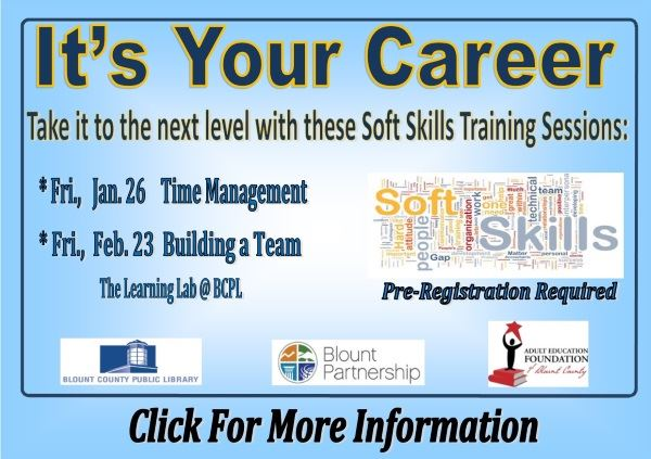 Its Your Career  Soft Skills - Begins Jan 26  Feb 23 2018 (Feature)