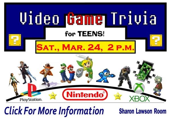 Video Game Trivia March 24 2018 (Feature)
