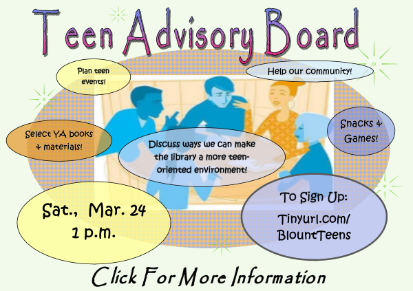 Teen Advisory Board March 24 2018 (Feature)