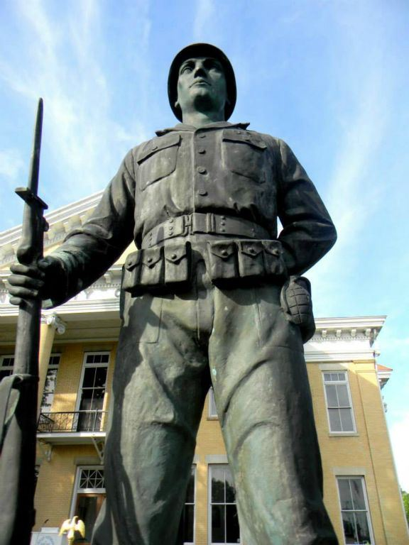 Up Close of Statue from war dead memorial