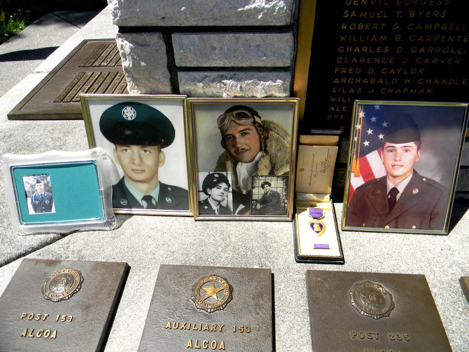 Image of photgraphs and memorabilia ov veterans