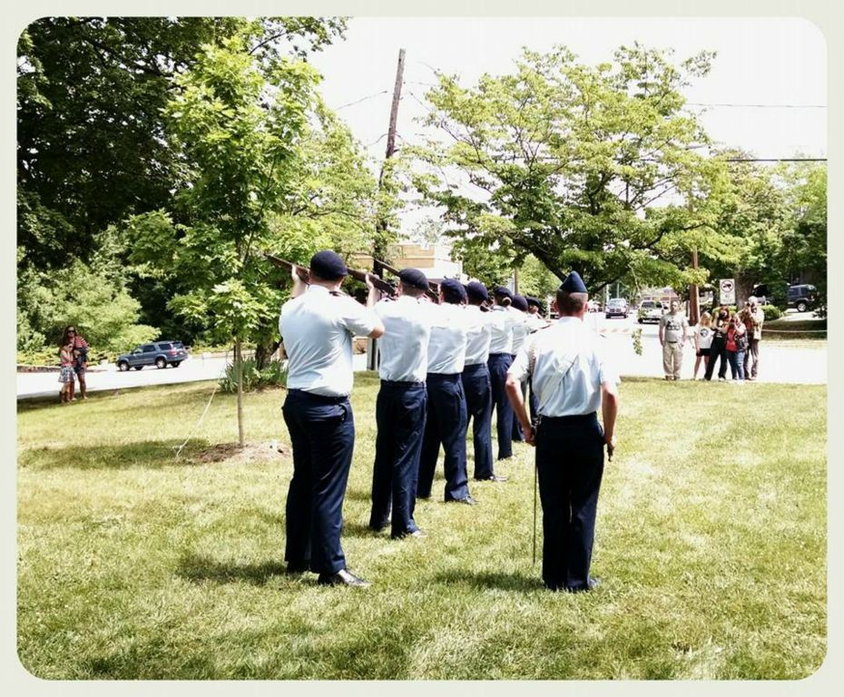 Cadets in line standing at attention