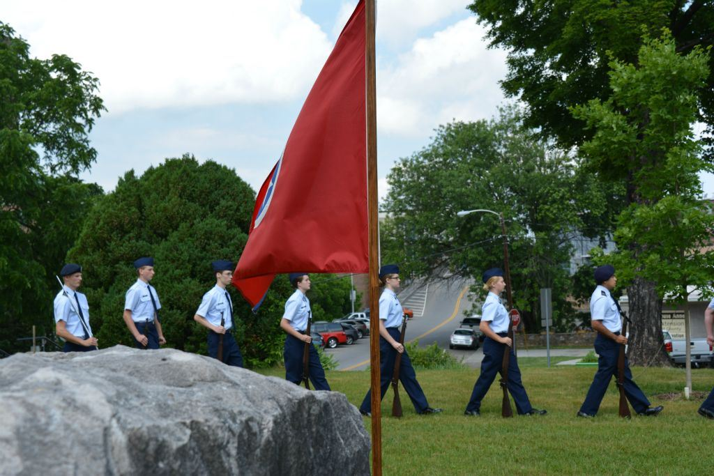 Cadets walking in formation