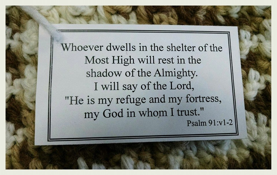"Text"" whoever dwells in the shelter of the Most HIgh will rest in the shadow of the Almighty. I wil say of the Lord, ""He is my refuge and my fortress, my God in whom I trust."""